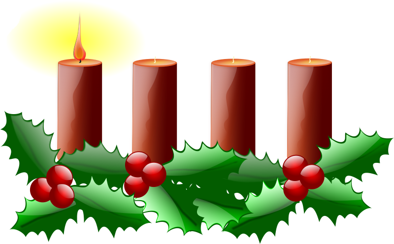 "First Sunday of Advent by Fuchur - this is a remix of inky2010's ""CHRISTMAS 0010"", a ""linear"" Advent wreath. As this is my first time (re)creating a vector graphics, you may find a lack of details like grouping etc."