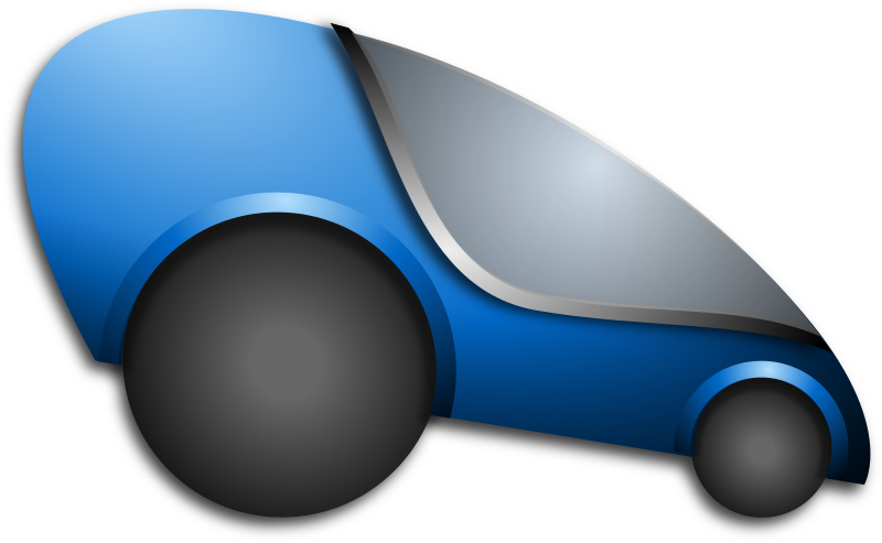 Futuristic Automobile by Merlin2525 - A futuristic electric car. Drawn with Inkscape.
