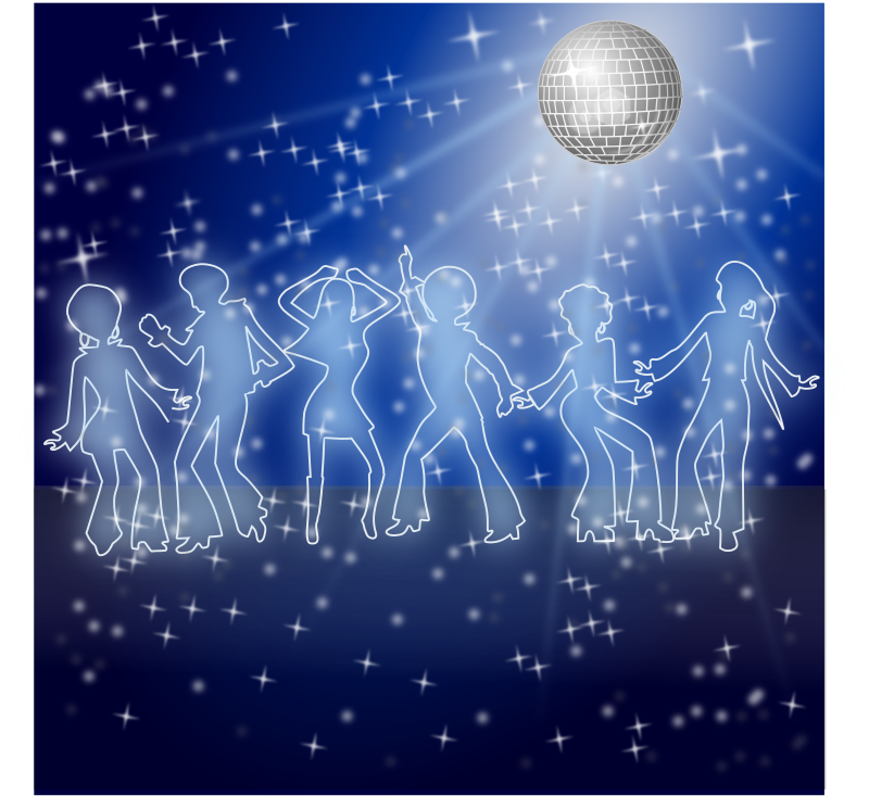Disco Dancers Remix 1 by Merlin2525 - My remix version of this fine art work! NOTE: Use the website's PNG function or Load Image into INKSCAPE to generate image correctly.
