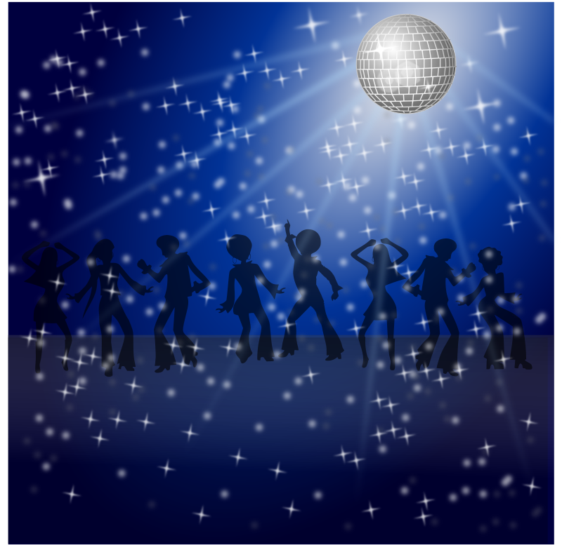 Disco Dancers Remix 2 by Merlin2525 - My 2nd remix version of this fine art work! NOTE: Use the website's PNG function or Load Image into INKSCAPE to generate image correctly.