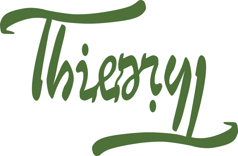 Ambigramme Thierry by Valgor - Ambigrama of the first name Thierry