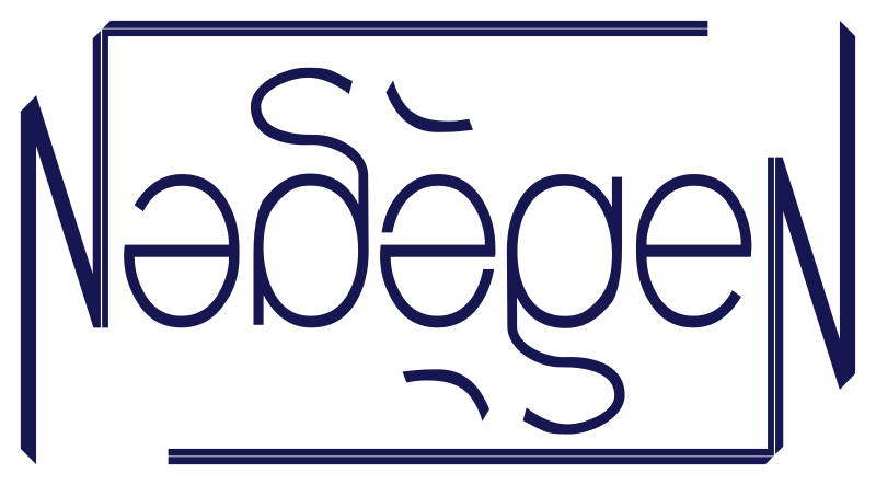 Ambigramme Nadège by Valgor - Ambigrama of the first name Nadège