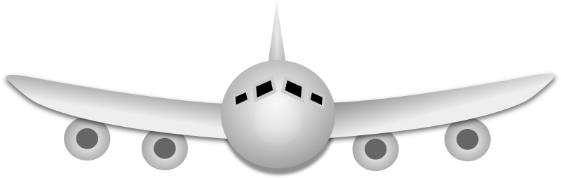 Airplane by Merlin2525 - A simple airplane, drawn by Merlin2525 with Inkscape.