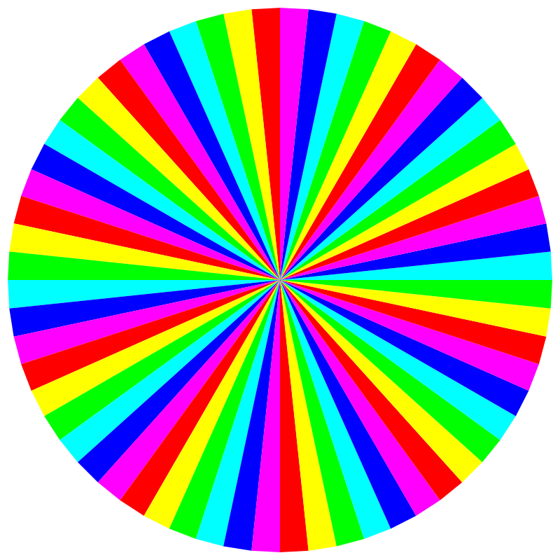 6 color 60gon by 10binary - This is rather easy to make in inkscape and yet it looks so great. I could imagine this being made into a clock.