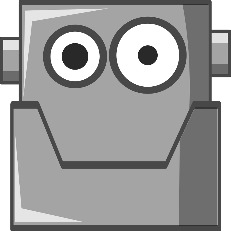 Cute Robot Head by qubodup