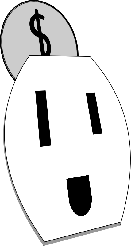 Happy Electrical Outlet by barrettward - A happy US style electrical outlet receiving a coin from the top.