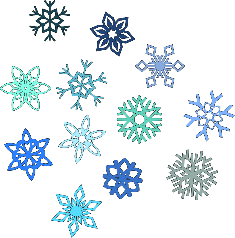 Snowflakes by spacefem - 6 pointed snowflakes