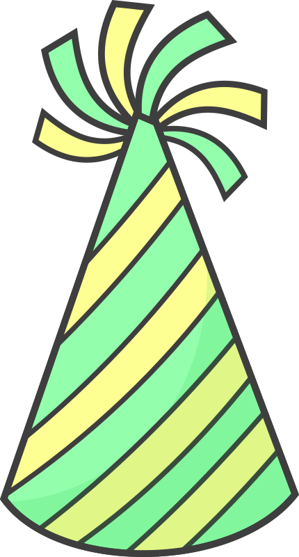 Green Party Hat by qubodup - Just a party hat with potential for being used in promotional material.