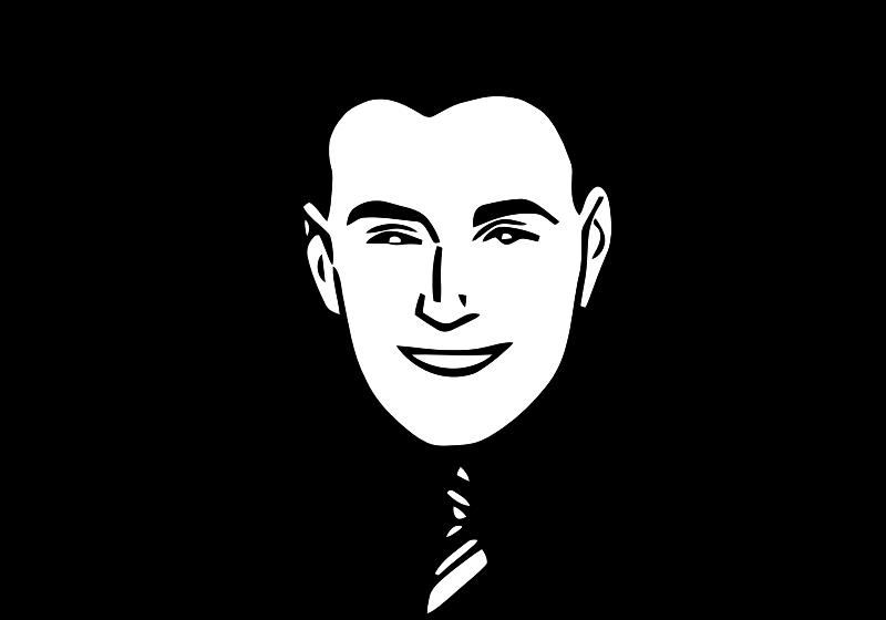 Smiling Man 7 by TikiGiki - a smiling business manSmiling Man Clipart
