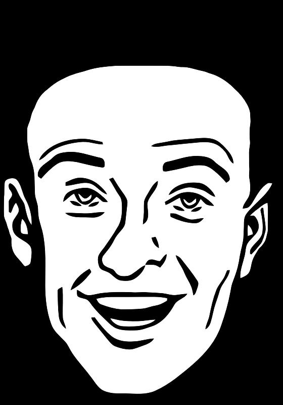 Smiling Man 8 by TikiGiki - smiling male faceSmiling Man Clipart