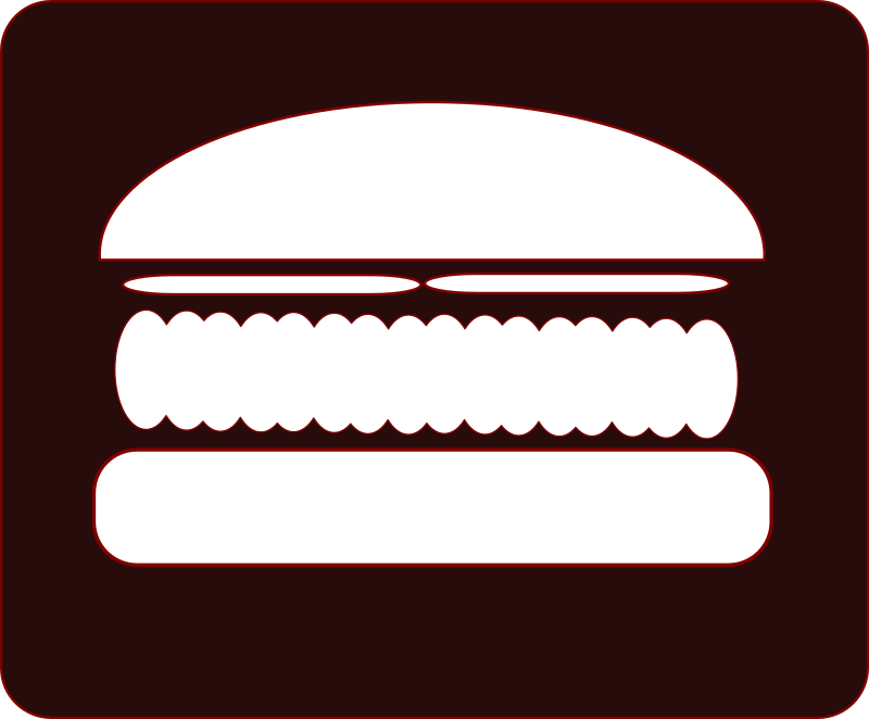 Hamburger Icon by FunDraw_dot_com - A quickie hamburger icon. I can't stop drawing food. Looks sort of evil... Darth Burger.
