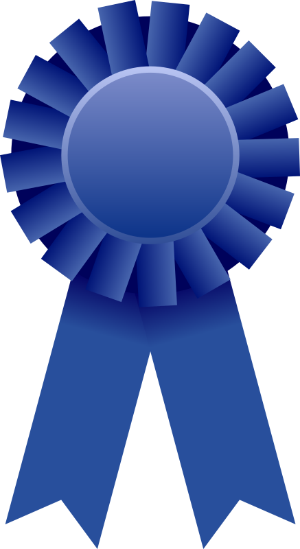 Award Ribbon by Mirek2 - An image of a blue rosette