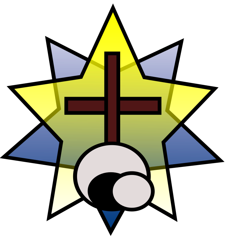 Symbolism - Star, Cross, Empty Tomb by wordtoall.org - Symbol with a star, cross and empty tomb representing major events in the life of Jesus Christ, His birth, His death and His resurrection.