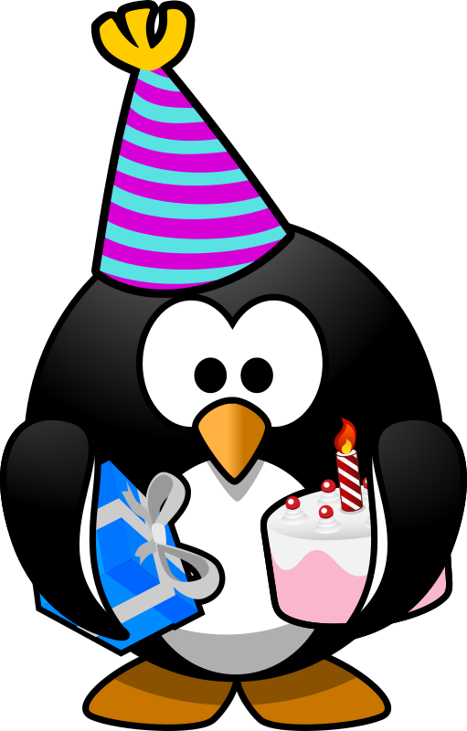 Party Penguin by Moini - A happy penguin coming to your party!