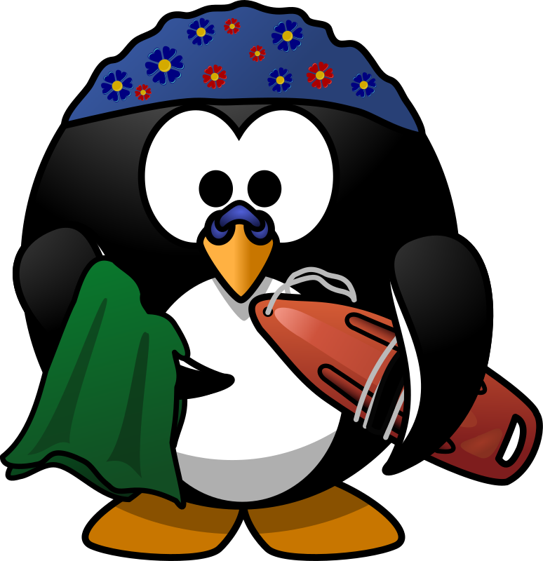 Swimmer Penguin by Moini - A penguin equipped with everything for a day at the beach!