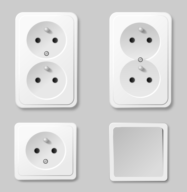 sockets by jarda - set of power points