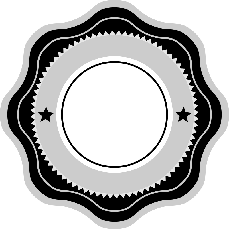 Curly Badge by akdean - A curly-sided Web 2.0-style badge, ribbon, or seal