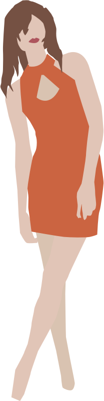 Girl in simple dress by tribla - Girl in simple dress