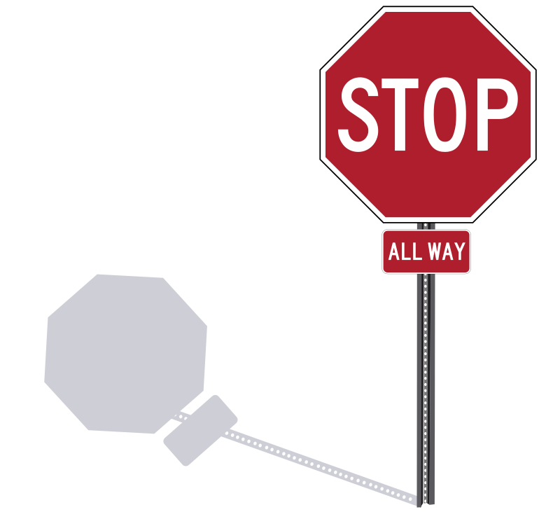 Stop Sign on Post by Rfc1394