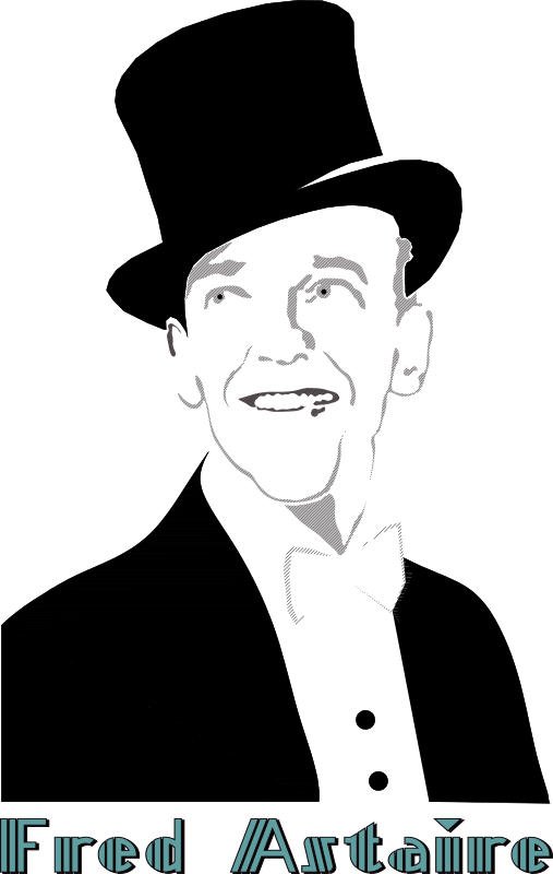 fred_astaire by Almeidah - A stylized portrait of famous american actor and dancer, Fred Astaire