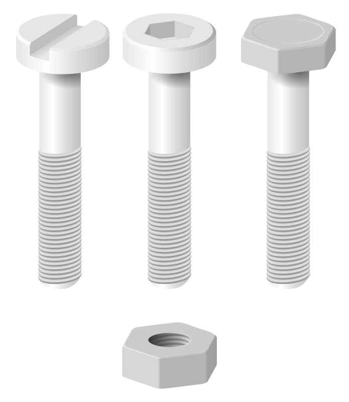 screws and nut by jarda - Set of screws and a nut.
