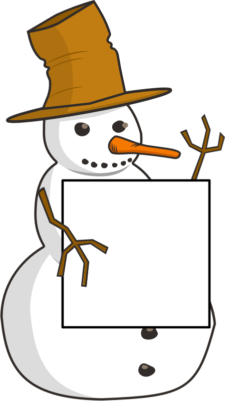 sign-holding snowman by ruthirsty - snowman holding a sign