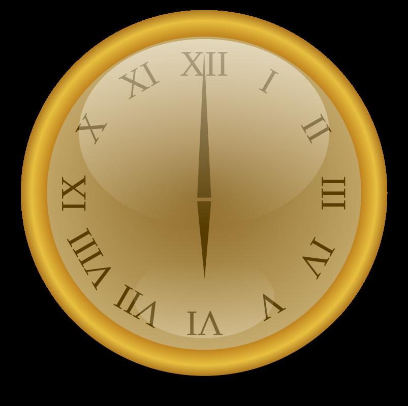 Clipart - Golden clock
