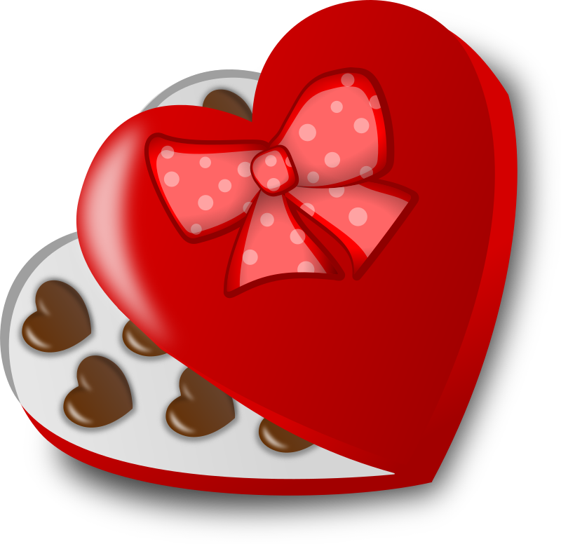Box of chocolates by Moini - A heart-shaped box of chocolates for your loved one.