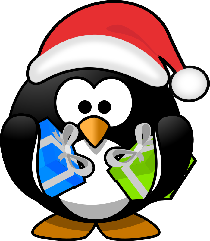 Santa penguin by Moini - A little penguin who just has ...
