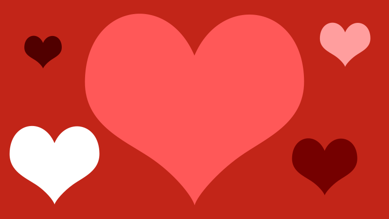 Love Heart Background by qubodup - Inkscape