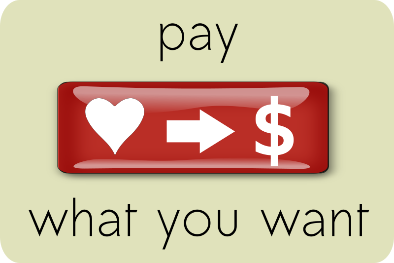 Pay What You Want (3) by ephemeralwaves - A donate button
