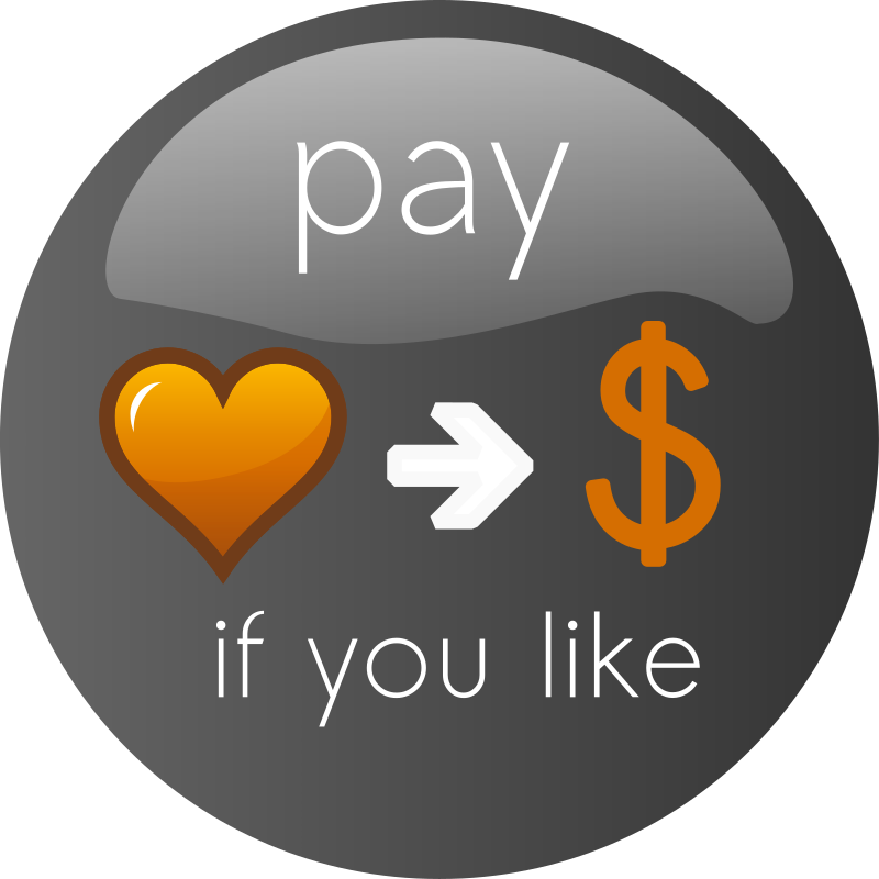 Pay If you Like Button 2 by ephemeralwaves - A button for donates