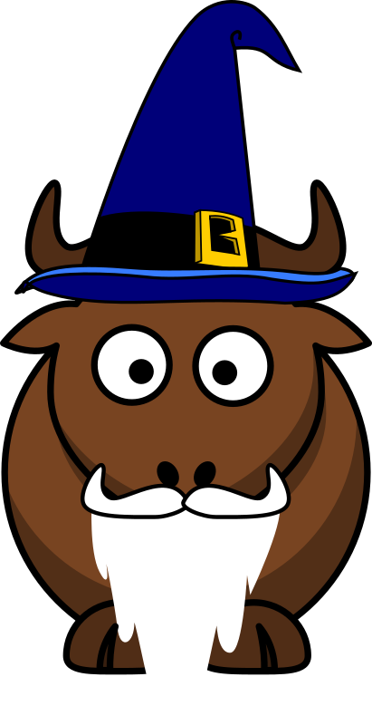 Cartoon Gnu Wizard by ephemeralwaves - GNU as wizard