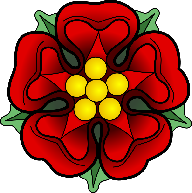 Heraldic Rose by werewolves - A red heraldic rose, barbed and seeded proper