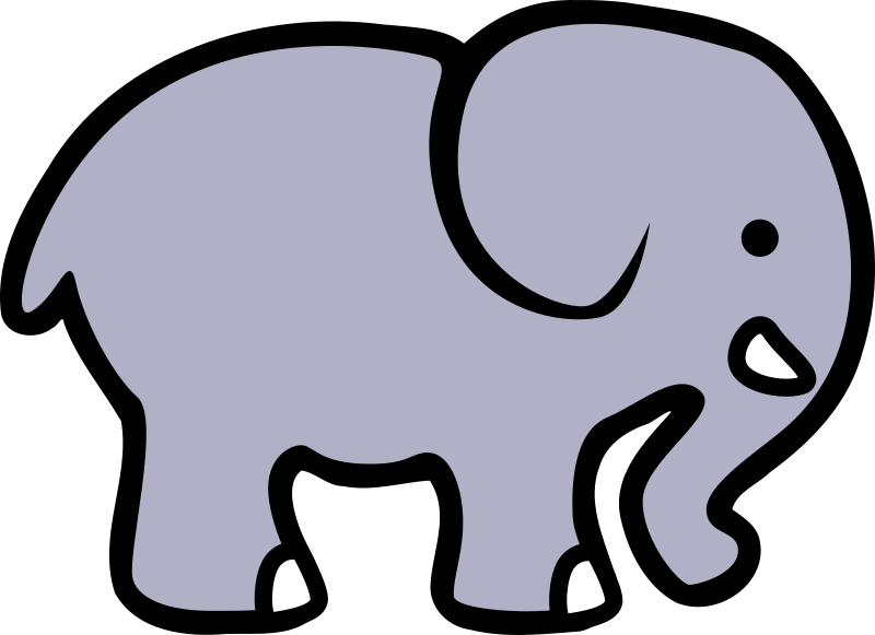 2D cartoon elephant by lemmling - A simple cartoon elephant