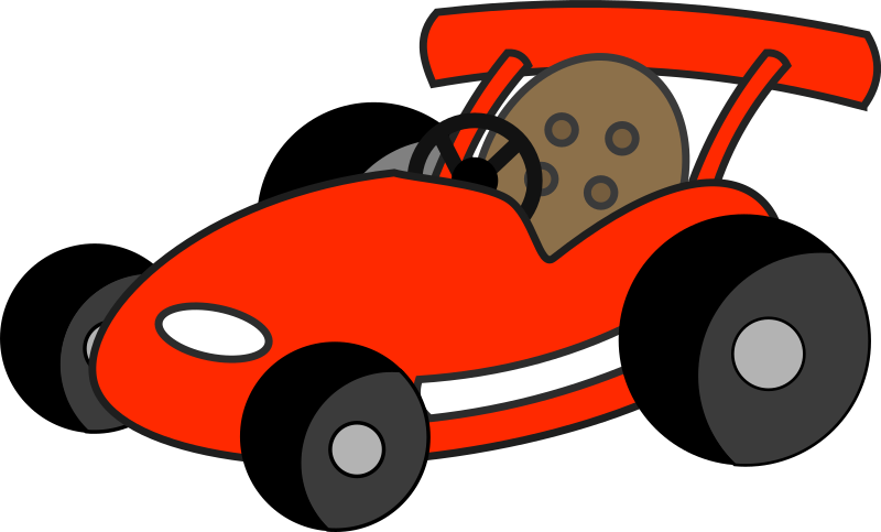 Cartoon Go Karts http://openclipart.org/detail/174826/red-go-kart-by-qubodup-174826