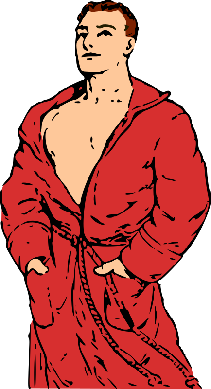Man in Bathrobe by qubodup - Time to take a bath, right after gender-balancing some search results on OCAL.
