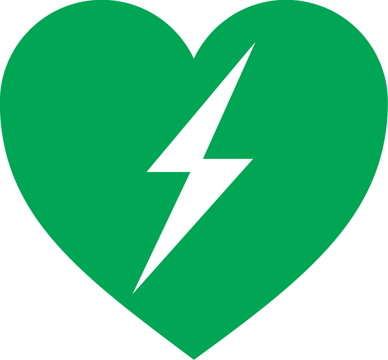 defibrillator logo by btournay - heart with a lightning