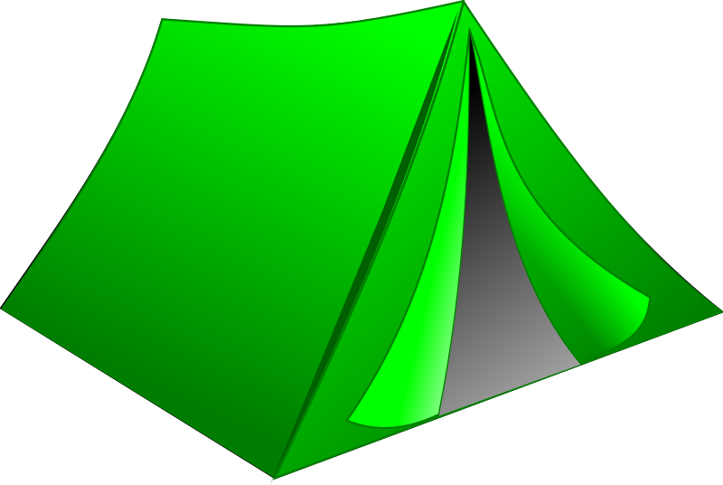 Green Tent by stamps - A green tent