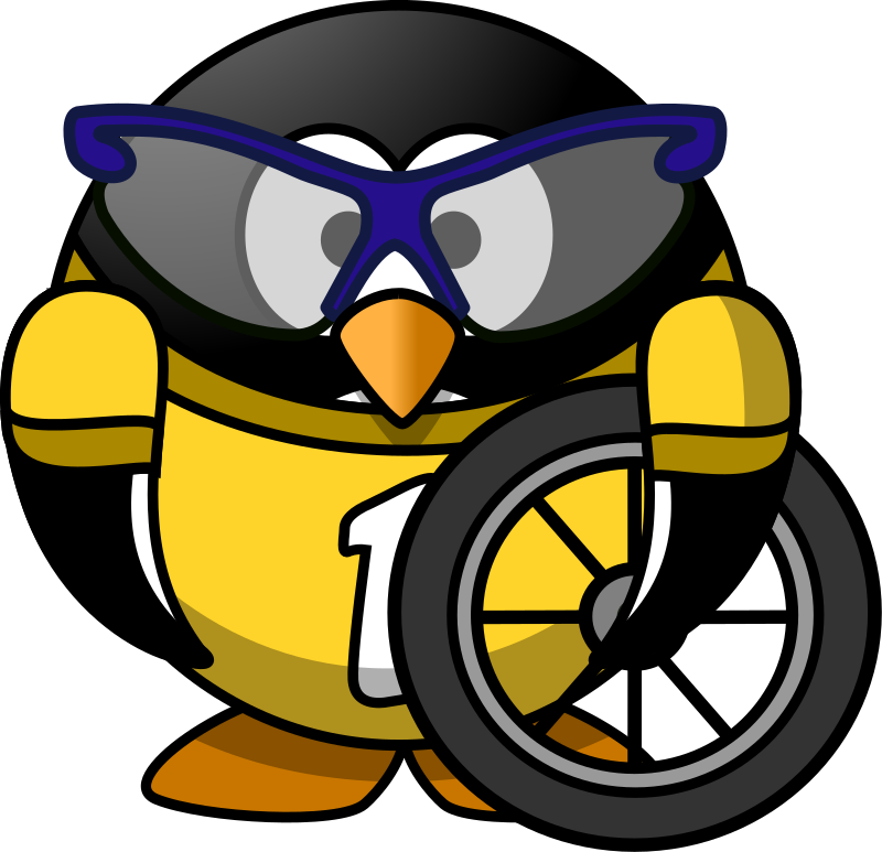 Cyclist penguin by Moini - This little penguin has nothing to lose but his chains ;-)