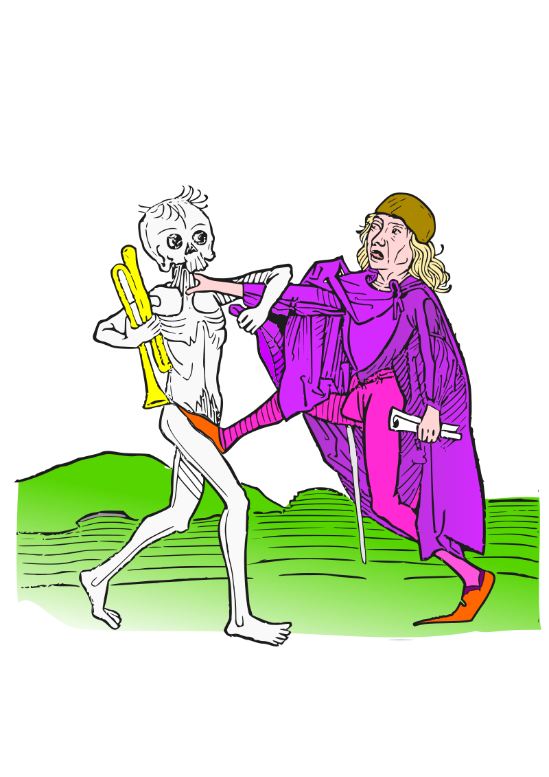 Dance macabre 5 by amilo - Based on illustrations from 'Heidelberger Totentanz', 