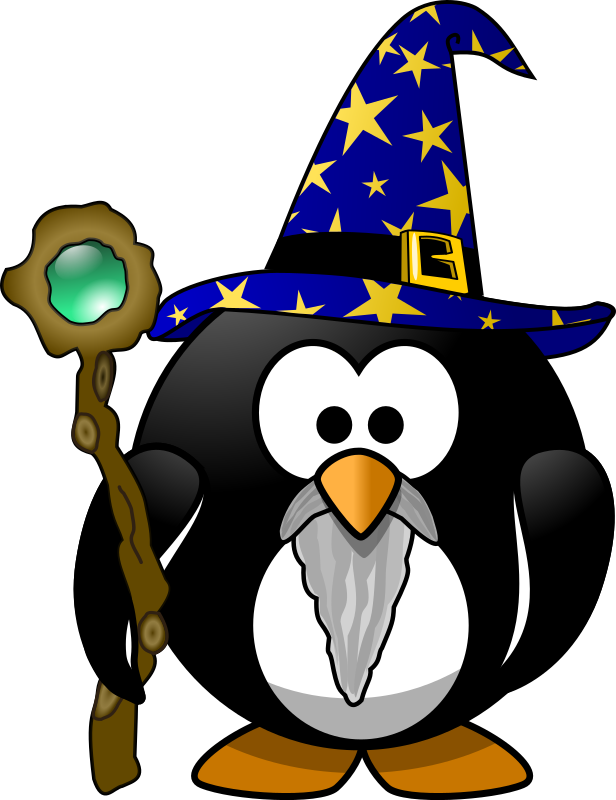 Wizard penguin by Moini - This little penguin can work magic ;-)