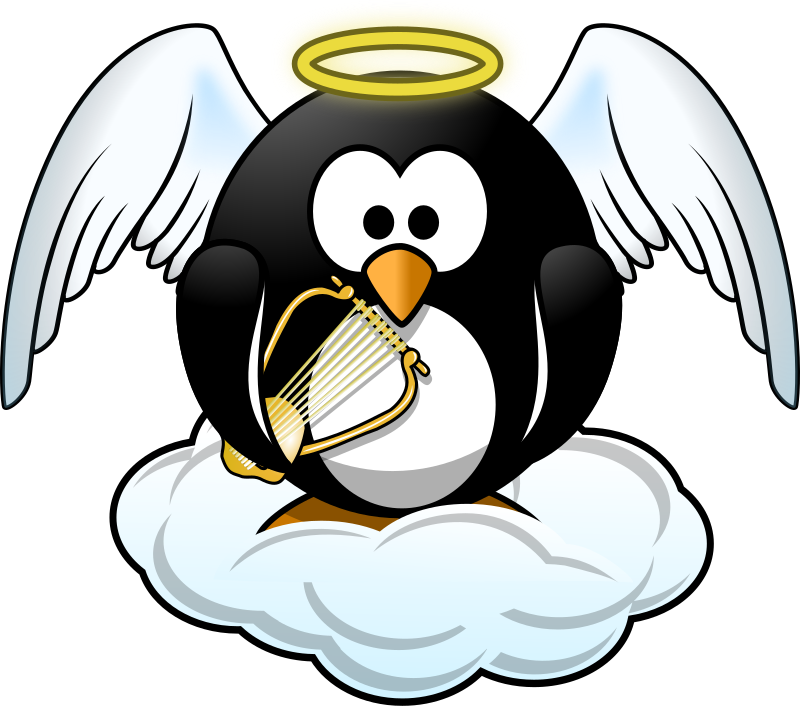 Penguin in Heaven by Moini