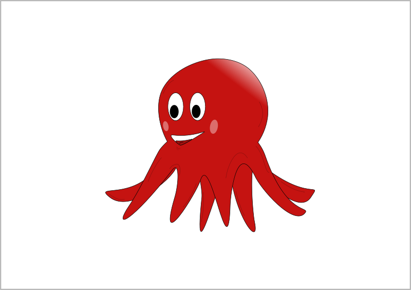 little red octopus by estitic - Cartoon octopus.