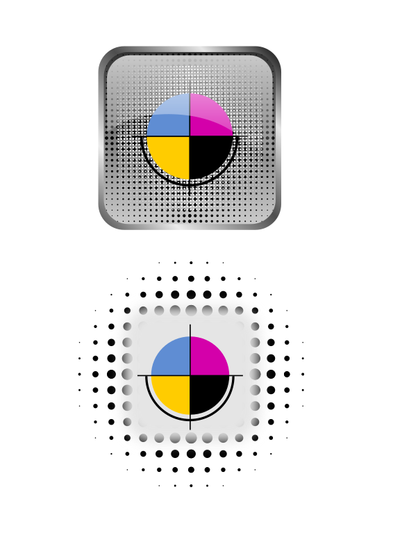 CMYK icons by Gespenst - Icon set for CMYK color palette.
