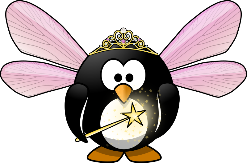 Fairy penguin by Moini - Take a wish! This little fairy penguin will make it true!