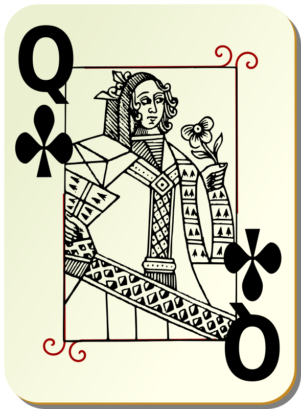 Guyenne deck: Queen of clubs by mariotomo