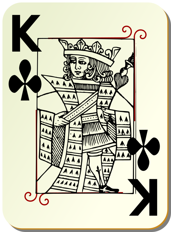 Guyenne deck: King of clubs by mariotomo - King  of club, remixing the Guyenne and the Ornamental decks.