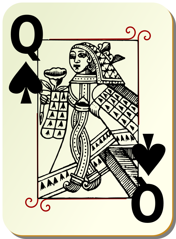 Guyenne deck: Queen of spades by mariotomo