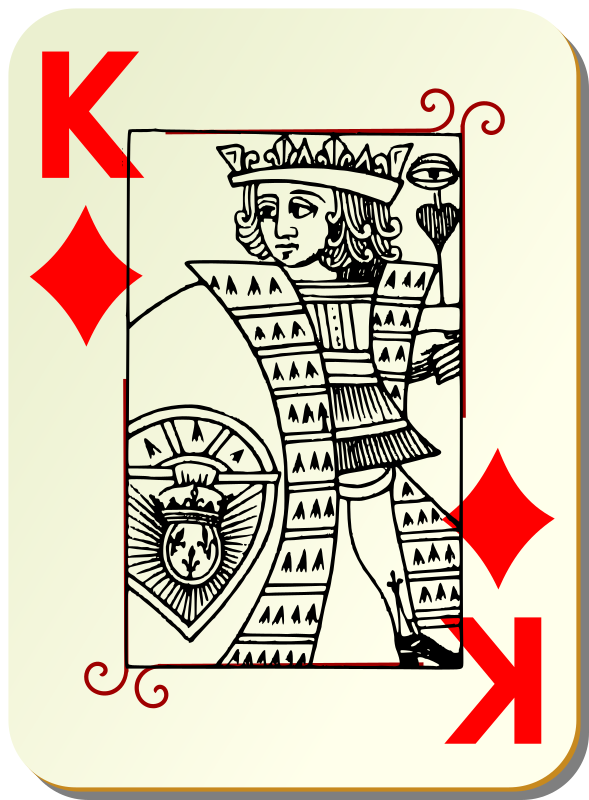 Guyenne deck: King of diamonds by mariotomo